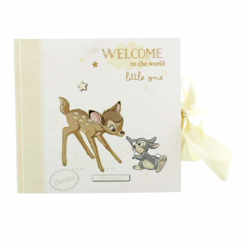Disney Bambi Baby Photo Album - christening and new baby Disney Gifts featuring Bambi and Thumper